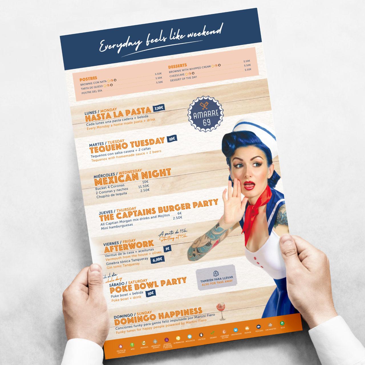 Amarre 69 menu